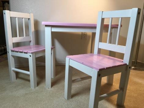 Children's wood table