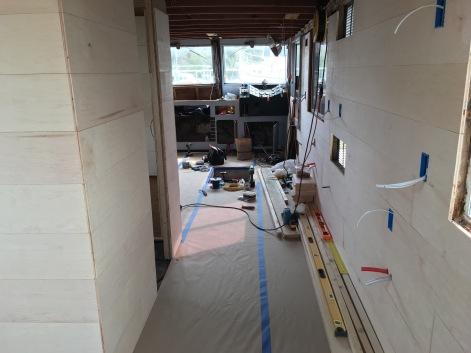 Hallway looking forward towards the helm