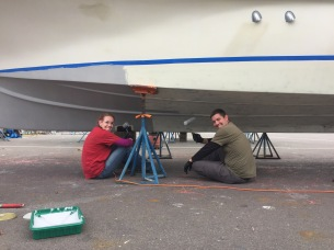 Ryan and Jacy priming using SharkSkin primer