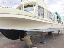 Ryan starting the SharkSkin black bottom paint