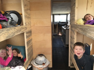 Kids in their bunks...still moving in.