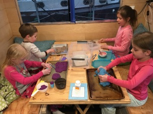 Our kids love playing with Kinetic Sand
