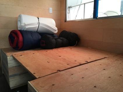 Ryan and my bed at night.