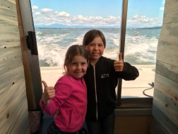 Excited Joy (10) and Arianna (8)