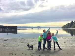 Langley's sandy beach
