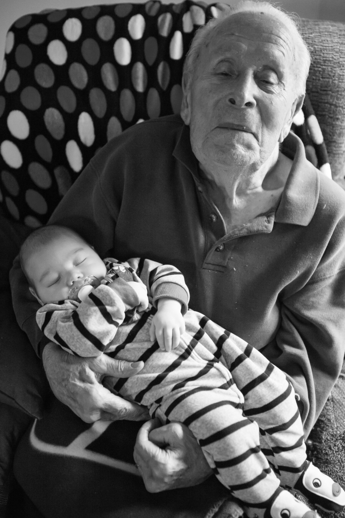 Great Grandpa with Kids-18