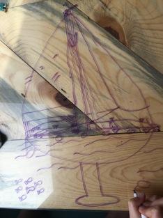 Drawing parts of a sailboat