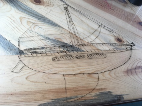 Drawing parts of a sailboat