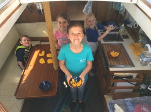 """Playing """"house"""" in our sailboat"""