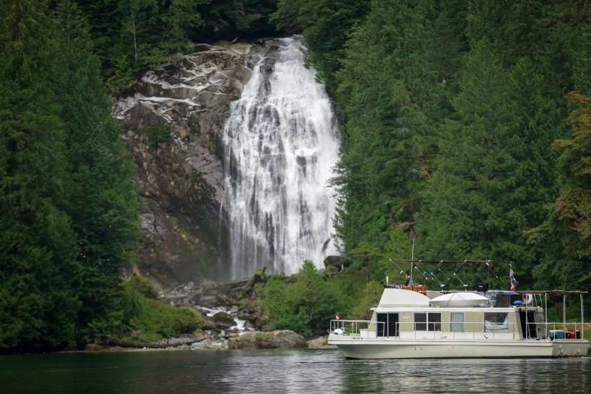 Our Cruise-a-home infront of Chatterbox Falls