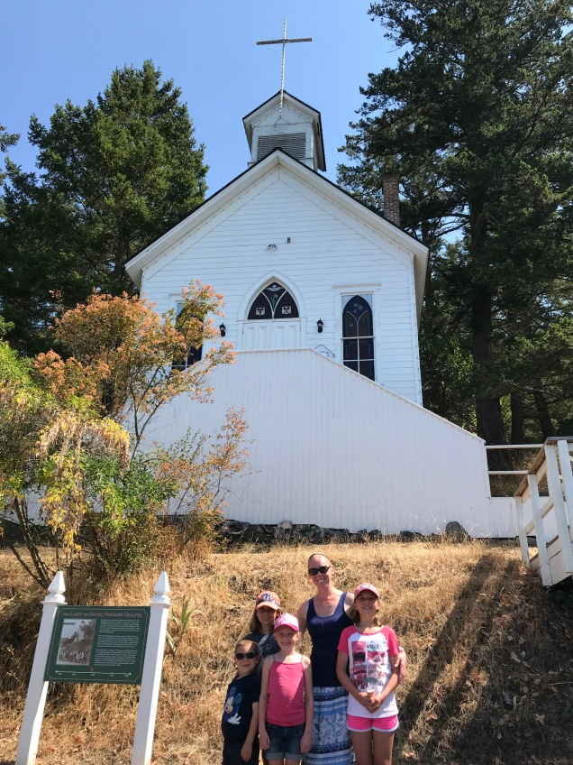 Historic church at Roche Harbor